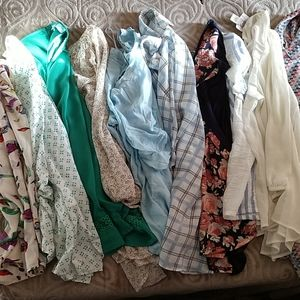 12+ Mystery box! Tons of designer work blouses!